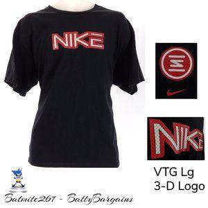 VTG NIKE BasketBall Textured Logo T Shirt Mens